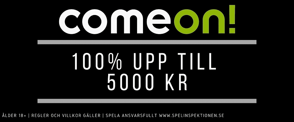 Comeon 5000kr i bonus